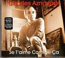 Charles Aznavour  Je  T'aime  Comme Ca  3 CDS SET