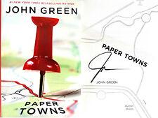 John Green~SIGNED~Paper Towns~1st Edition HC + Photos!!  Printz Award Winner!