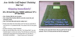 Brand New Acu-Strike Golf 4 Mat Set