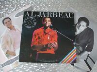 "AL Jarreau 3 LP LOT w/ Autograph ""Breakin' Away, This Time, Look to the Rainbow"""