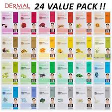 [DERMAL] Collagen Essence Full Face Facial Mask Combo Pack of 24