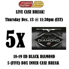 18-19 UD BLACK DIAMOND 5 (FIVE) BOX CASE BREAK #1126 - Edmonton Oilers