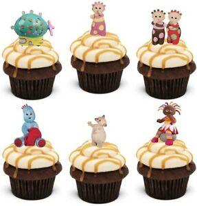 In The Night Garden Stand Up Cup Cake Toppers Edible Birthday Party Decorations