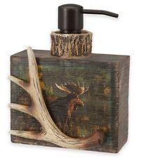 Rustic Moose Nature Lotion Pump Dispenser Bottle Fun Resin Bath Bathroom Decor