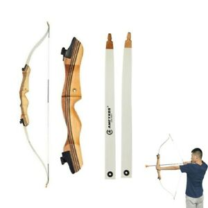 "48"" 54"" Youth Archery Recurve Bow Wooden Takedown Beginner Parent-Child Practice"