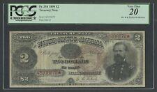 FR354 1890 $2 TREASURY PCGS 20 VF (49 KNOWN) RAREST $2 TREASURY NOTE WLM6766