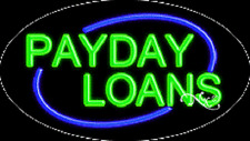 """NEW """"PAYDAY LOANS"""" 30x17 OVAL SOLID/FLASHING NEON SIGN w/CUSTOM OPTIONS 14061"""