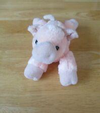 "Aurora World PIG 7"" Long Plush Stuffed Floppy Beanie Peachy Pink"