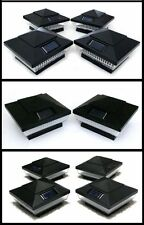 8-PACK GARDEN SOLAR BLACK POST DECK CAPS SQUARE ASSORTED LED COLORS