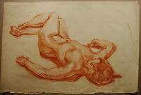 Russian Ukrainian Soviet Painting realism nude figure woman girl 1950s