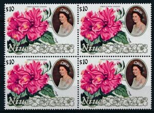 [P15699] Niue 1981 : Flowers - 4x Good Very Fine MNH Stamp in Block - $75