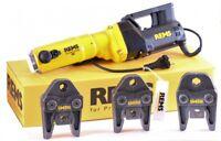REMS Pressmaschine Power Press SE + 3 Pressbacken Presszangen M oder V Set E