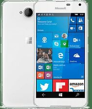 Microsoft Nokia Lumia 650 16 Gb Bloccato per Tesco Windows Smartphone Mobile Bianco!