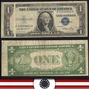 1935-E $1 SILVER CERTIFICATE *GUTTER FOLD / SHIFT ERROR* Fr 1613  F03565861H-WSZ