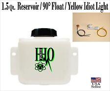 1.5 Quart Reservoir Bubbler & 12v, Right Angle Float Switch & Yellow Idiot Light