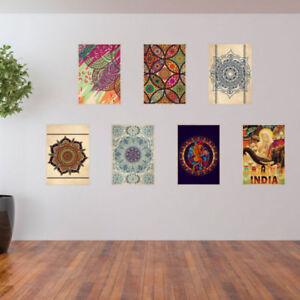 India Mandala Posterss Bohemian Posters Retro Prints A3 Size Wall Art