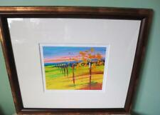 Ann Rea Framed Landscape art  Matted Signed Print Very end of Yielding Vines