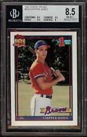 Rare 1991 Topps Tiffany #333 Chipper Jones Braves Rookie RC BGS 8.5 NM-MT+ HOF
