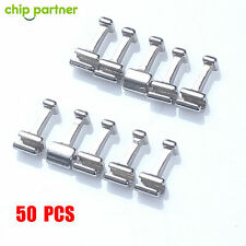 50X Crimpable Hook Long Orthodontic Dental Archwire Buccal Tube Ligature Tie Lot