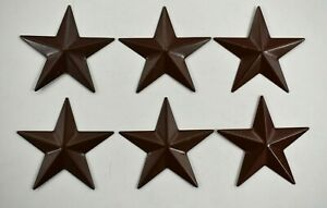 """ECO Rise 5"""" Pack Of 6 Barn Star Metal S Rustic Wall Decor Western Country Home"""