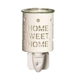 Electric Plug In Ceramic Oil Burner Aroma Lamp Wax Melt Warmer Home Sweet Home