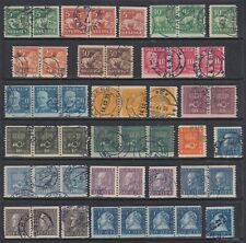 Sweden 116//185 Used 1920-1925 Coil Selection With Multiples 47 Stamps