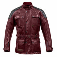Spada Berliner Premium Leather Motorcycle Motorbike Waterproof Jacket - Oxblood