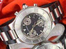 Cartier Autoscaph 21 watch Mens Watch ref.2424 Cartier Chronoscaph Watch MINT