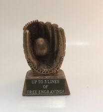 Gold Baseball Glove Resin Trophy! Free Engraving! Ships In 1 Business Day!