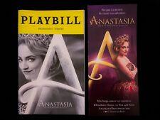ANASTASIA Musical Broadway Playbill & Flyer Christy Altomare Cody Simpson Jan 19