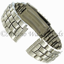 18mm Hirsch Titanium Straight End Security Fold over Clasp Watch Band 5626