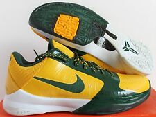 Nike 2009 Zoom Kobe V 5 Rice High School Edition Maize sz 8.5 Rare  [386429-700]