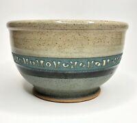 Vintage 1989 Jon Graham Studio Pottery Glazed Speckled Brown Blue Stoneware Bowl