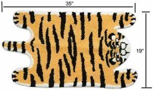 Huichenxing2021FURSTORE Tiger Printed Rug Faux Fur Skin Animal Carpet Rug Yellow