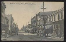 Postcard WELLSVILLE Ohio/OH  W.M. Hamilton Store & Business Section view 1907
