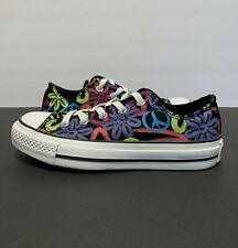 Converse All Star Womens Sz 6 Floral Multi-Colors Low Top Sneakers 517454F