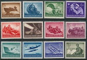 Authentic Lot Stamp Germany 1944 WWII War Tank Ship Wehrmacht Selection MNG
