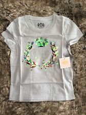 Juicy Couture Diseñador Girl's Gris Talla 4/5 año Camiseta