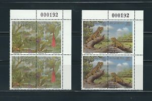 COLOMBIA 1995 FLORA AND FAUNA 2 BLOCKS X 4 MNH