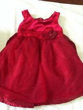 Pinky toddler girl dress 2T red flowers sparkles Christmas holiday dressy