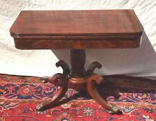 LATE FEDERAL PERIOD CLASSICAL GAME TABLE ATTRIBUTED TO ISSAC VOSE BOSTON