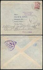 Chile a Puerto Rico 1961 reenviado gomígrafo.. la Dirección de Tránsito + asesorar a Panamá