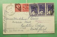 DR WHO 1939 MINNEAPOLIS MN SPECIAL DELIVERY TO NORTHFIELD MN PREXIE PAIR g17682