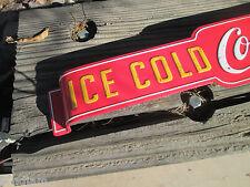COCA COLA DOOR PUSH ICE COLD BOTTLES COOL old school look Soda Pop Advertising