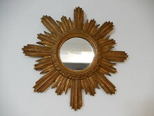 1940's French Gold Gilt Sunburst Starburst Mirror