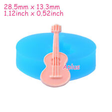 PEB008 28.5mm Guitar Silicone Mold Musical Instrument Mold Cake Craft Candy