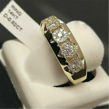Gorgeous 14K Yellow Gold Filled White Sapphire Ring Men Women's Jewelry Size 7