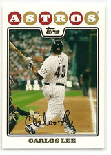 Carlos Lee Houston Astros 2008 Topps Baseball Card #543 El Caballo MLB Mint
