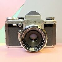 Vintage Edixa Mat Reflex Model B 35mm SLR Camera + Lens Tested! Lomo Working