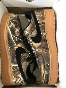 "New Nike Realtree X Air Force One Low ""Tan Camo"" AO2441-001 Mens Size 12"